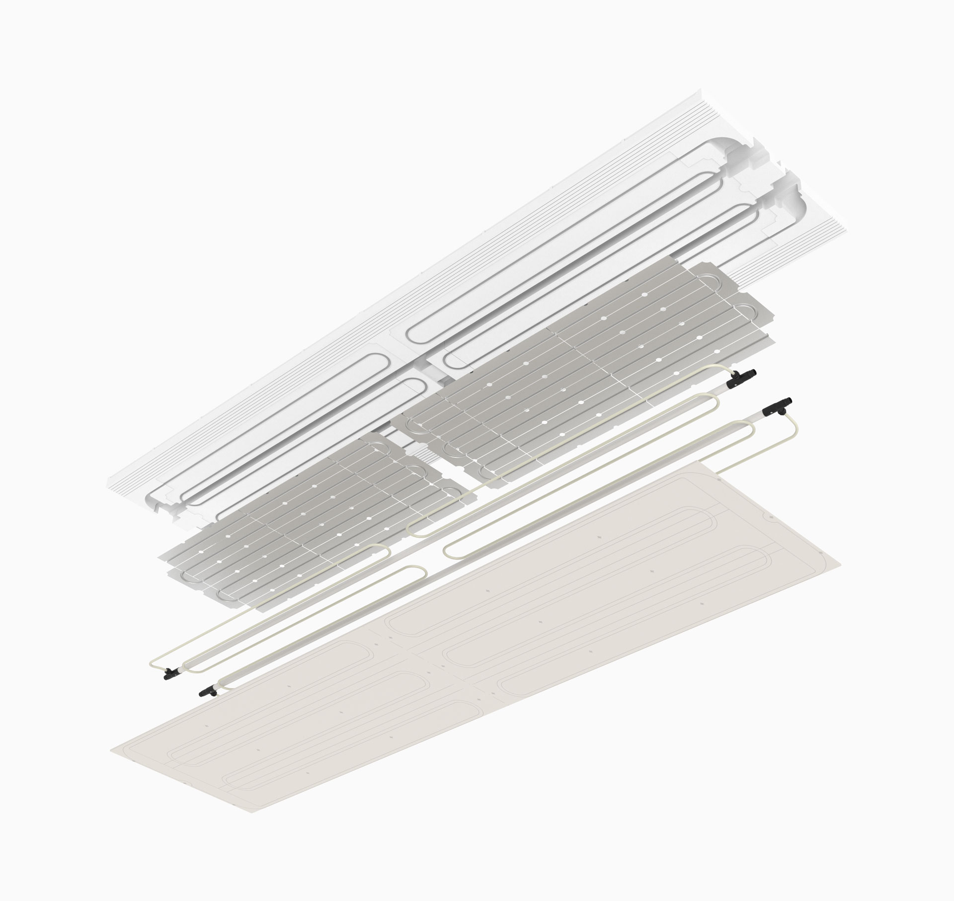 prefabricated radiant panel UTbeams - pannello radiante prefabbricato UTbeams