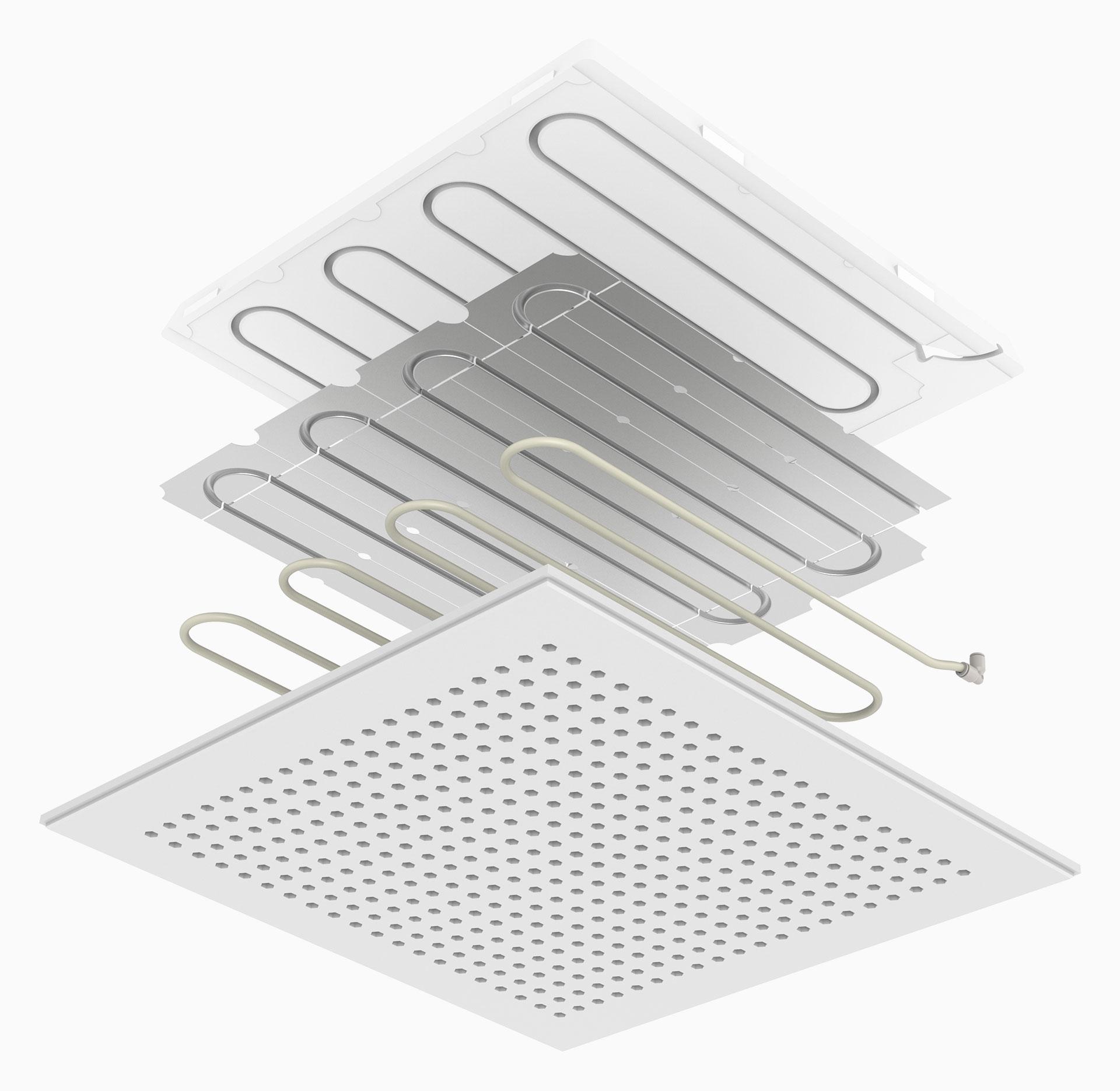 prefabricated radiant panel UTquad - pannello radiante prefabbricato UTquad