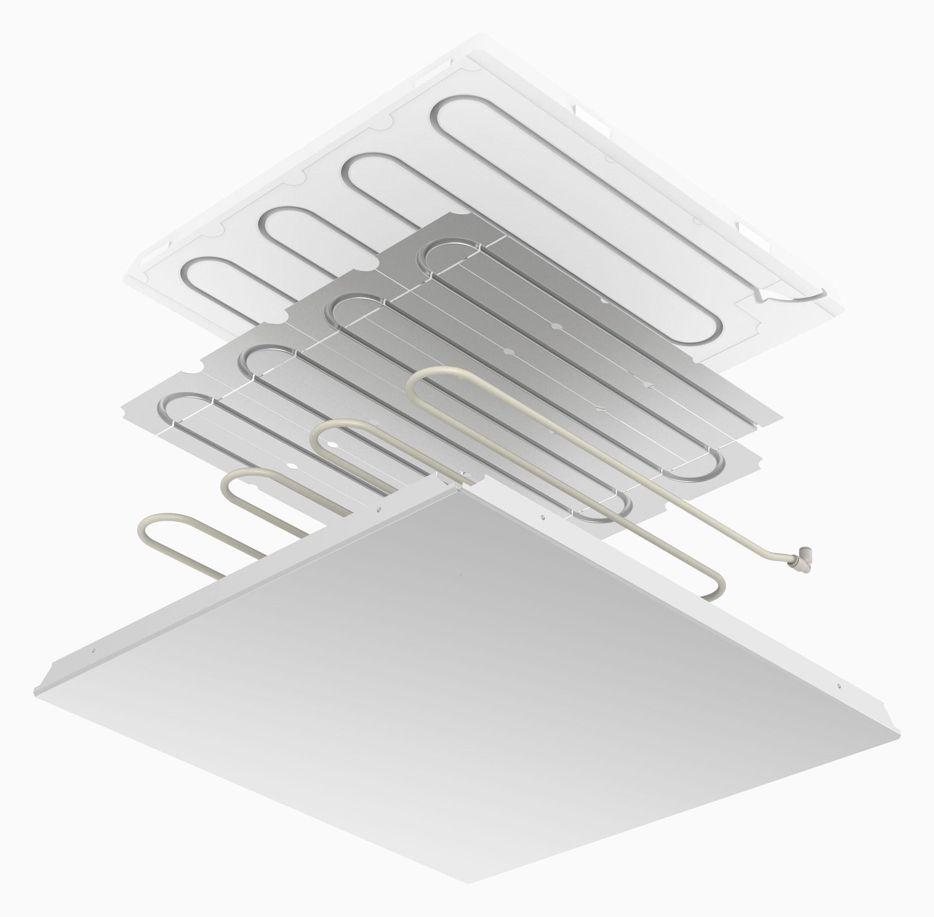 prefabricated radiant panel UTquad metal - pannello radiante prefabbricato UTquad metal